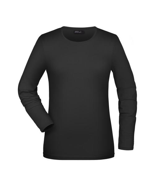 Damen Elastic Shirt Langarm