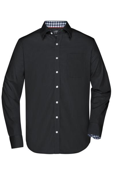 Herrenhemd mit Karoeinsatz