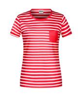 4e0e4ba76ed66f Damen Maritim T-Shirt red white M