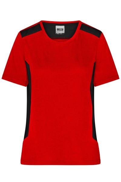 Damen BIO Workwear T-Shirt Kontrast