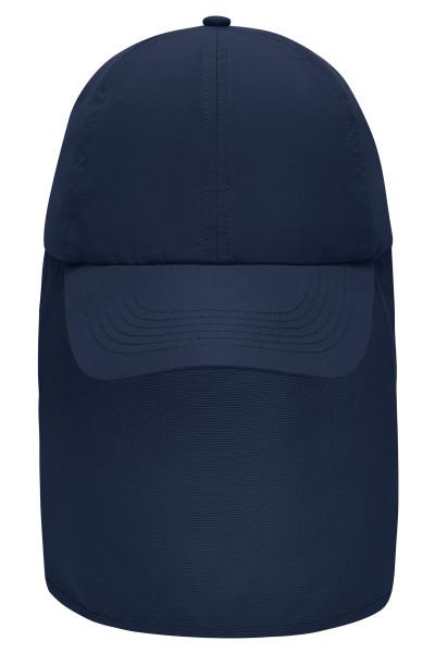 6 Panel Cap mit Nackenschutz