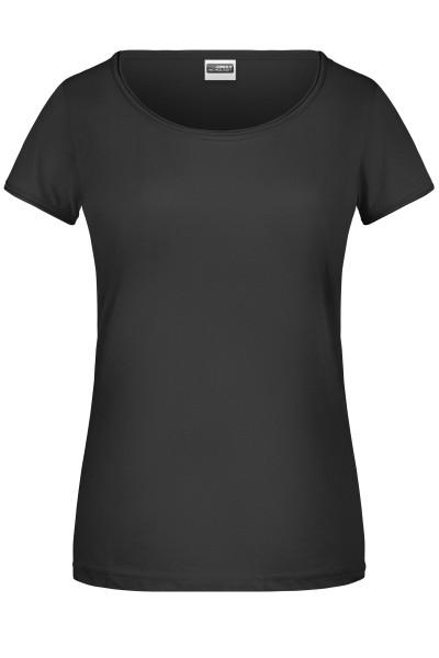 Damen T-Shirt Rollsaum