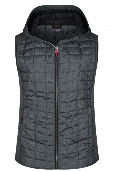 Damen Strickfleece Hybridweste