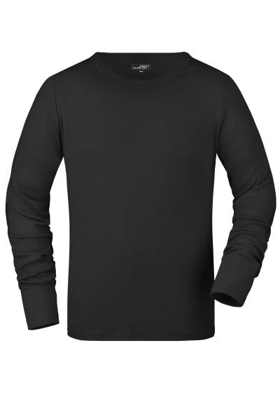 Herren Langarm Feinripp Shirt