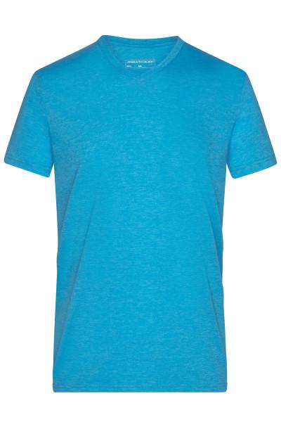 Herren Melange V-Shirt