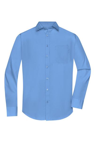 Herrenhemd Poplin Langarm