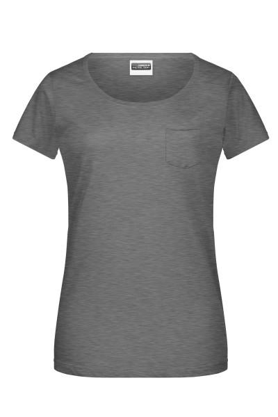 Damen T-Shirt mit Brusttasche