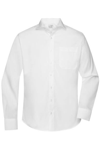 Non-iron Herrenhemd mit Hai-Kragen