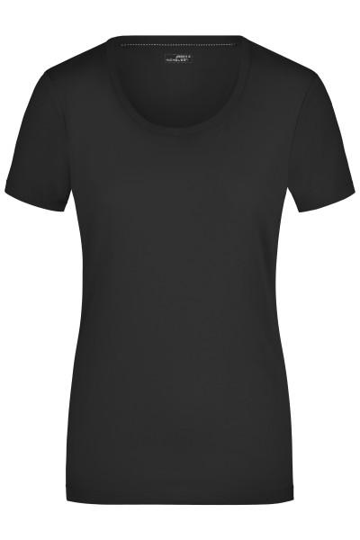 Damen Elastic Rundhals Shirt
