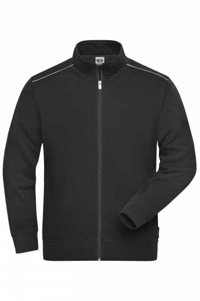 Herren Workwear Sweatjacke Materialmix