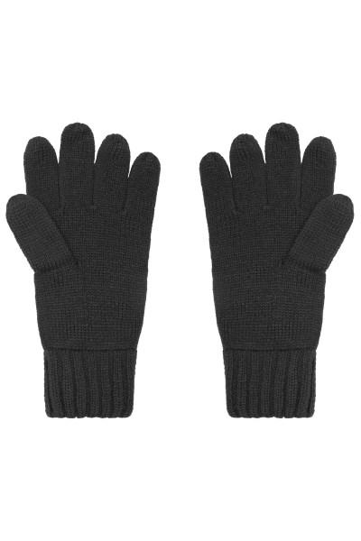 Melange Strick Handschuhe