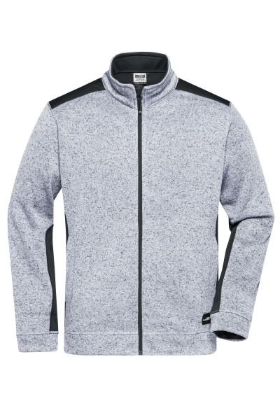 Herren Strickfleece Workwear Jacke