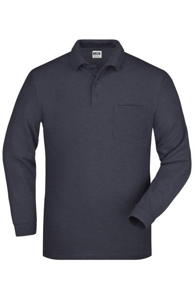 Langarm Poloshirt mit Tasche