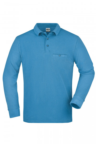 new products e319f e2a38 JN866 Herren Langarm Workwear Polo