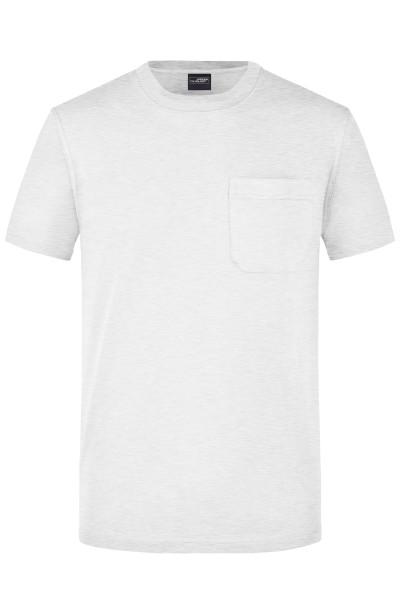 Herren Rundhals Shirt mit Brusttasche