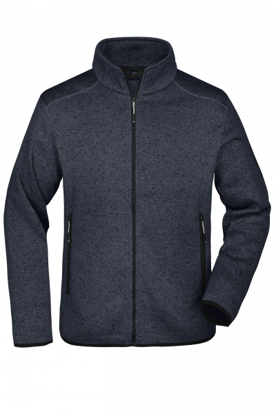 Herren Fleece Strickjacke